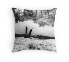 Barbed Wire Snow Throw Pillow