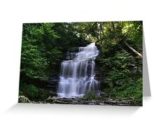 Hot August Relief Below Ganoga Falls Greeting Card