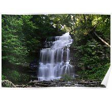 Hot August Relief Below Ganoga Falls Poster