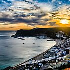 Sunset at the Portuguese Coast by Michael Abid