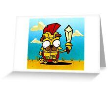Spartan Pug Greeting Card