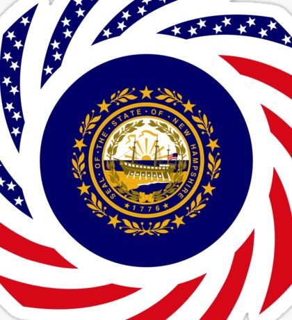 New Hampshire Murican Patriot Flag Series Sticker