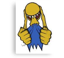 Alien Pac Man Canvas Print