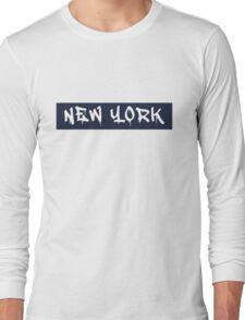 New York (Yankees Colors) Long Sleeve T-Shirt