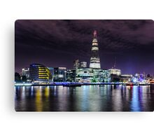London skyline by night Canvas Print