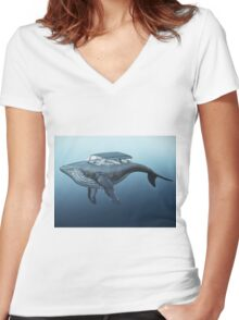 Mercury cruiser of the sea Women's Fitted V-Neck T-Shirt
