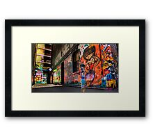 Hosier Lane No 1 Framed Print
