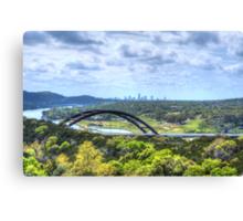 Pennybacker Bridge HDR Canvas Print