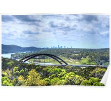 Pennybacker Bridge HDR Poster