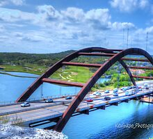 Pennybacker Bridge HDR Closeup by KKooPhotography