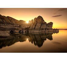 Granite Glow Photographic Print