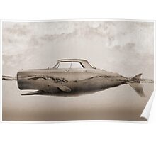 the Buick of the sea - sepia Poster