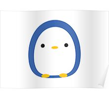 Roly Poly Penguin Poster