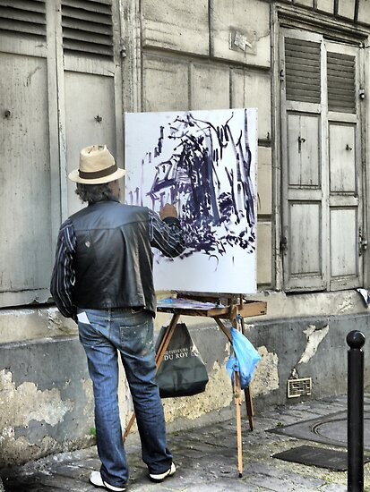 A Paintbrush in Montmartre by cullodenmist