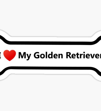 I Love My Golden Retriever Sticker