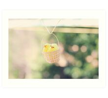 Toy Chickens - Basket Art Print