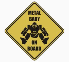 Metal Baby on board - sticker by ReciprocalCo
