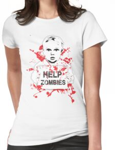HELP ZOMBIES Womens Fitted T-Shirt