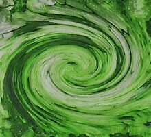 Green Galaxy by jojobob