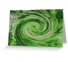 Green Galaxy Greeting Card