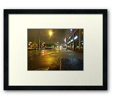 Gothenburg by night - Tram Framed Print