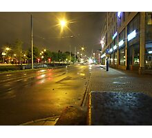 Gothenburg by night - Tram Photographic Print