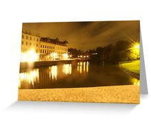 Gothenburg by night - From avenyn Greeting Card