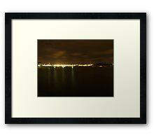 Gothenburg by night - Harbor Framed Print
