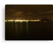 Gothenburg by night - Harbor Canvas Print