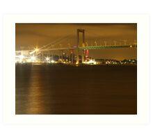 Gothenburg by night - The hisingen bridge Art Print