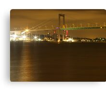 Gothenburg by night - The hisingen bridge Canvas Print