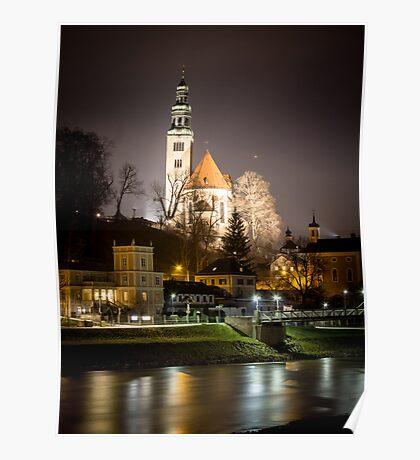 A Church at Night Poster