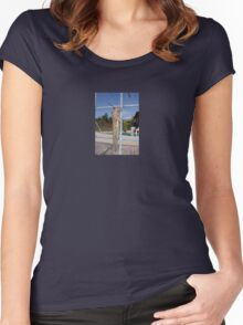 Locust On A Wire Fence Women's Fitted Scoop T-Shirt
