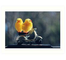 Toy Chickens - Vespa Art Print