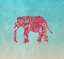 Whimsical Colorful Elephant Tribal Floral Paisley by GirlyTrend