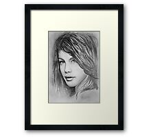 Portrait of a girl Framed Print