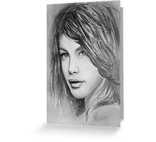 Portrait of a girl Greeting Card