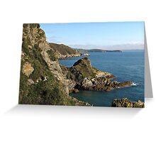 Cliffs in Cornwall near Mevagissey Greeting Card