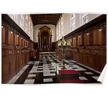 Trinity College Chapel in Cambridge Poster