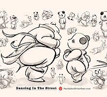 Panda And Polar Bear Dancing In The Street by Panda And Polar Bear