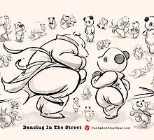 Panda And Polar Bear Dancing In The Street by Panda And Polar Bear
