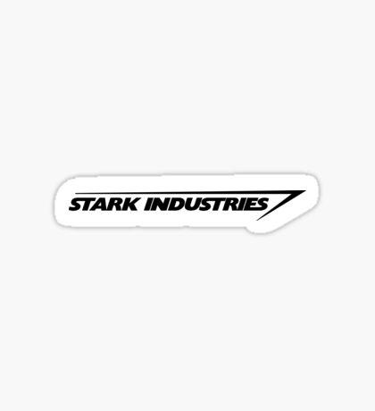 Stark Industries : Black Sticker
