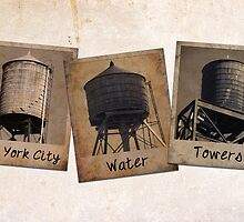 New York Water Tower Polaroids by icoNYC