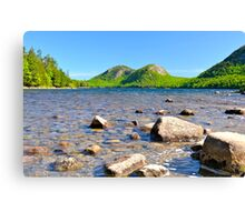 Jordan Pond in Springtime Canvas Print