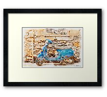 The Vespa Framed Print