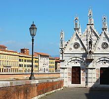 Church Santa Maria della Spina in Pisa by kirilart