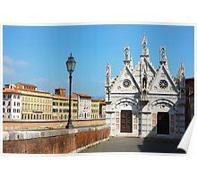 Church Santa Maria della Spina in Pisa Poster