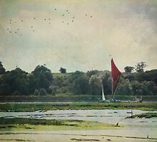 Barge on the River by Anna Davies