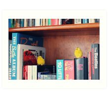 Toy Chickens - Library Art Print