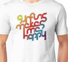 Surfing Happy Unisex T-Shirt